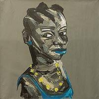 'African Pride' - Contemporary Signed Acrylic Portrait of African Woman