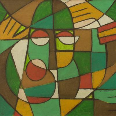 'Equilibrium' - Original Acrylic Painting in Cubist Abstract Style