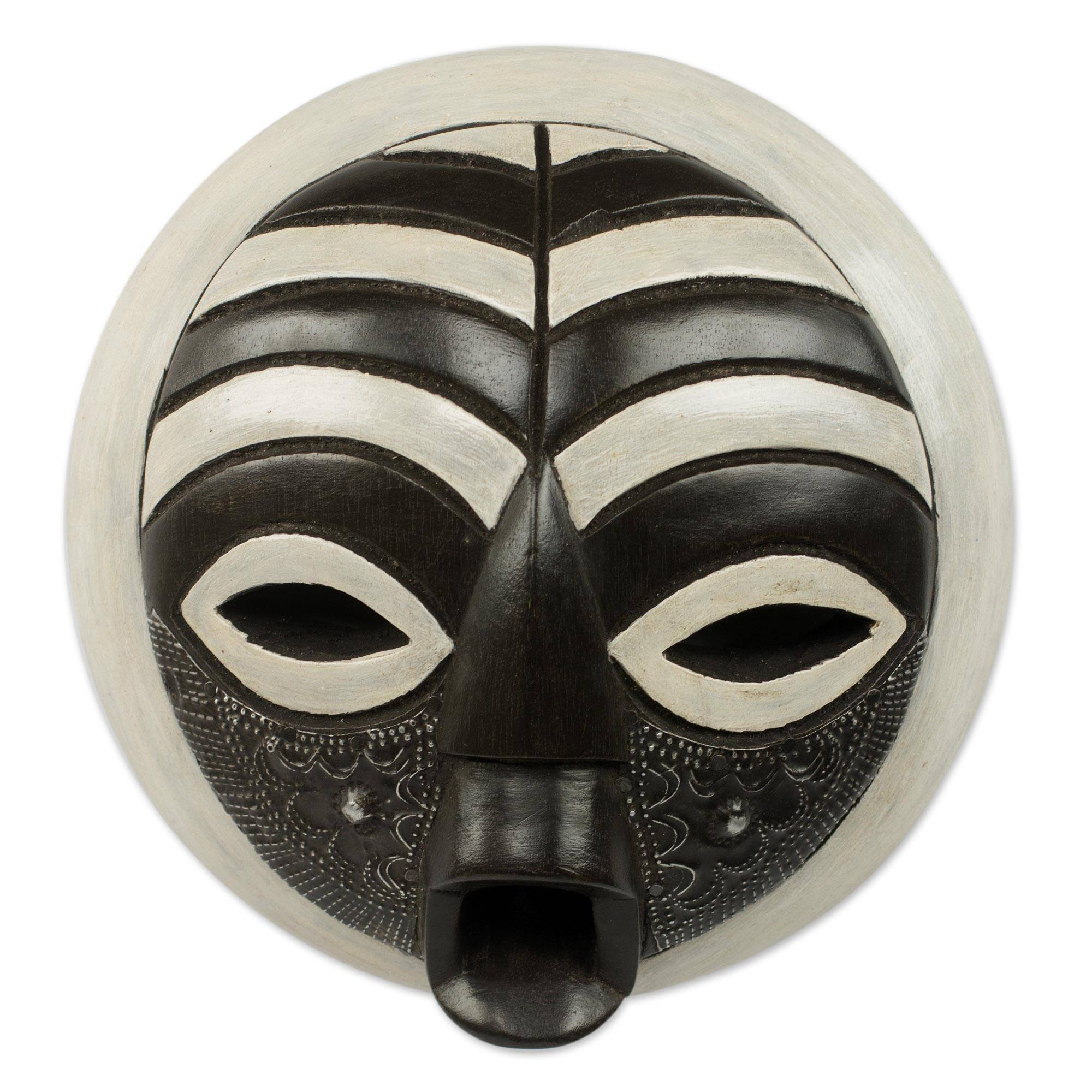 Circular West African Mask Handcrafted And
