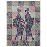 'Gossip' - Ghanaian Women in Silhouette in Original Acrylic Painting