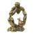 Wood sculpture, 'Measuring the Pot' - West African Abstract Wood Sculpture Portrait (image 2a) thumbail
