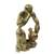 Wood sculpture, 'Measuring the Pot' - West African Abstract Wood Sculpture Portrait (image 2b) thumbail
