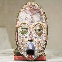 African wood mask, 'Ghost Mask'