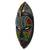 African wood mask, 'Zulu Homage' - West African Wood Beaded Wall Mask from Ghana (image 2b) thumbail