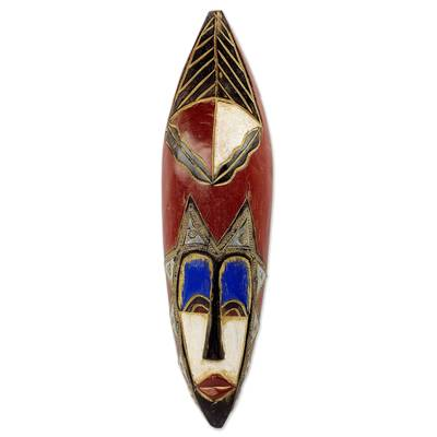 Artisan Carved Authentic African Mask from Ghana