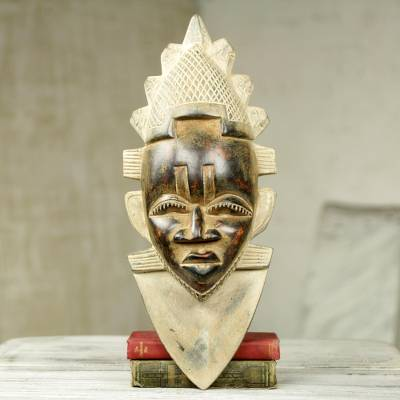 African wood mask, Festac Queen Idia