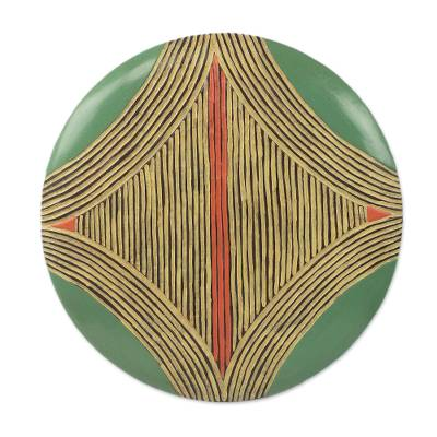 Abstract Circular African Mask from Gabon and the Congo