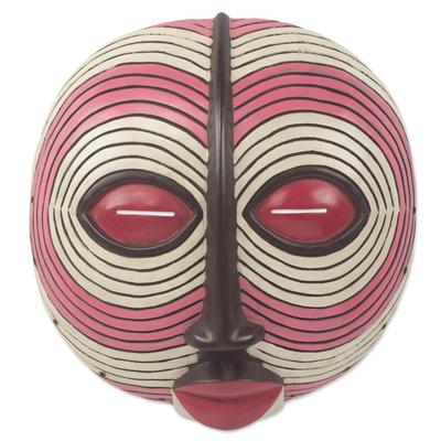 Sese wood mask, 'Baluba Dance Spirit I' - African Dance Spirit Wall Mask Artisan Crafted Wood Art