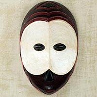 African wood mask, 'Mumuye Pride' - African Art Mumuye Nigerian Tribe Handmade Replica Wall Mask