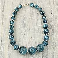 Featured review for Recycled plastic beaded necklace, Tropical Belle