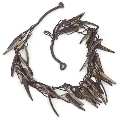 Coconut shell necklace,