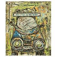'Last Trotro' - Original Signed Painting of West African Lorry in Acrylics