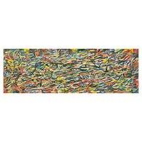 'Fishscape' - Original Acrylic Painting of Fish from Ghana