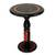 Wood accent table, 'Africa' - Hand Carved Circular Wood Accent Table from Ghana thumbail