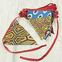 Cotton garland, 'Bronya Banners' - Artisan Crafted Colorful Cotton Christmas Garland from Ghana
