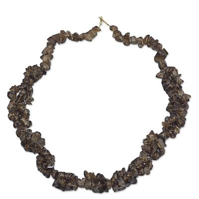 Brown Agate Beaded Necklace from West Africa