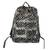 Cotton backpack, 'Abanga' - Black and White Batik Cotton Backpack with Shoulder Straps thumbail
