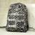 Cotton backpack, 'Abanga' - Black and White Batik Cotton Backpack with Shoulder Straps (image 2b) thumbail