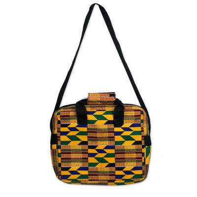 Brilliantly Colored Laptop Bag Made From Kente Cloth