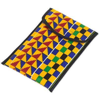 iPad Case with Lively and Colorful Kente Cloth Patterns