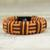 Cord bracelet, 'Brown and Orange Kente Power' - Brown and Orange Cord Striped Bracelet Handmade in Ghana (image 2b) thumbail
