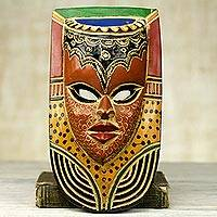 African wood mask, 'Queen on the Wall'