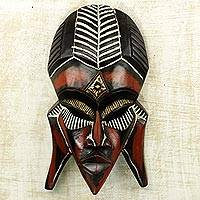 African wood mask, 'Fumnaya Love'