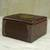 Decorative wood box, 'Ghanaian Keepsake' - Hand Made Wood Box Aluminum Accent from Ghana (image 2b) thumbail