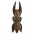 African wood mask, 'Horned Mask' - Carved and Painted Sese Wood Mask Featuring Protruding Horns thumbail