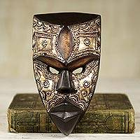 African wood mask, 'Mbara Hunter'