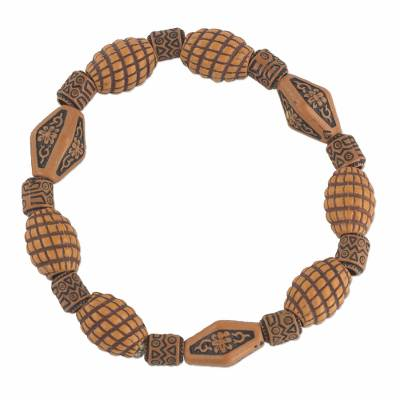 Beaded stretch bracelet,