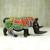 Beaded wood sculpture, 'Beaded Rhino' - Sese Wood Rhino Sculpture with Recycled Glass Beads (image 2b) thumbail
