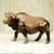 Ebony wood statuette, 'African Buffalo' - Polished Ebony Wood Statuette of Horned Cow from Ghana (image 2b) thumbail