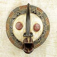 African wood mask, 'Yeau Light'