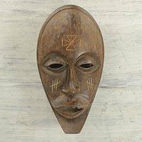 African wood mask, 'Balele Dance' - Traditional Decorative Ghanaian Sese Wood Handcrafted Mask