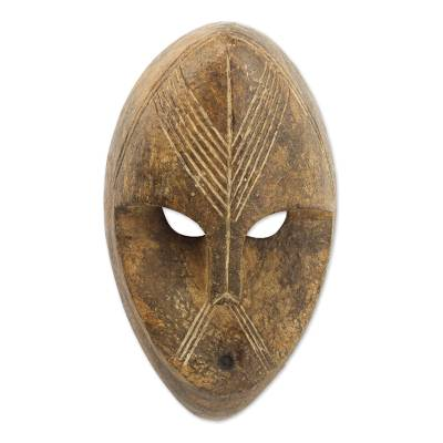 Decorative Hand Carved Wood African Wall Mask From Ghana Dan Masquerade Novica