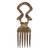 Wood decorative comb, 'Flamingo Love' - Sese Wood Decorative Comb with Flamingos from Ghana (image 2a) thumbail