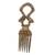 Wood decorative comb, 'Flamingo Love' - Sese Wood Decorative Comb with Flamingos from Ghana (image 2b) thumbail