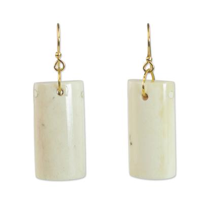 Bone dangle earrings,