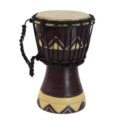 Artisan Crafted Authentic African Mini Djembe Drum