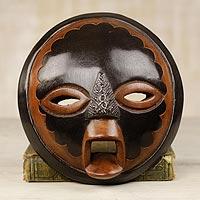 African wood mask, 'Good Money'