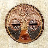 African wood mask, 'There is Time'