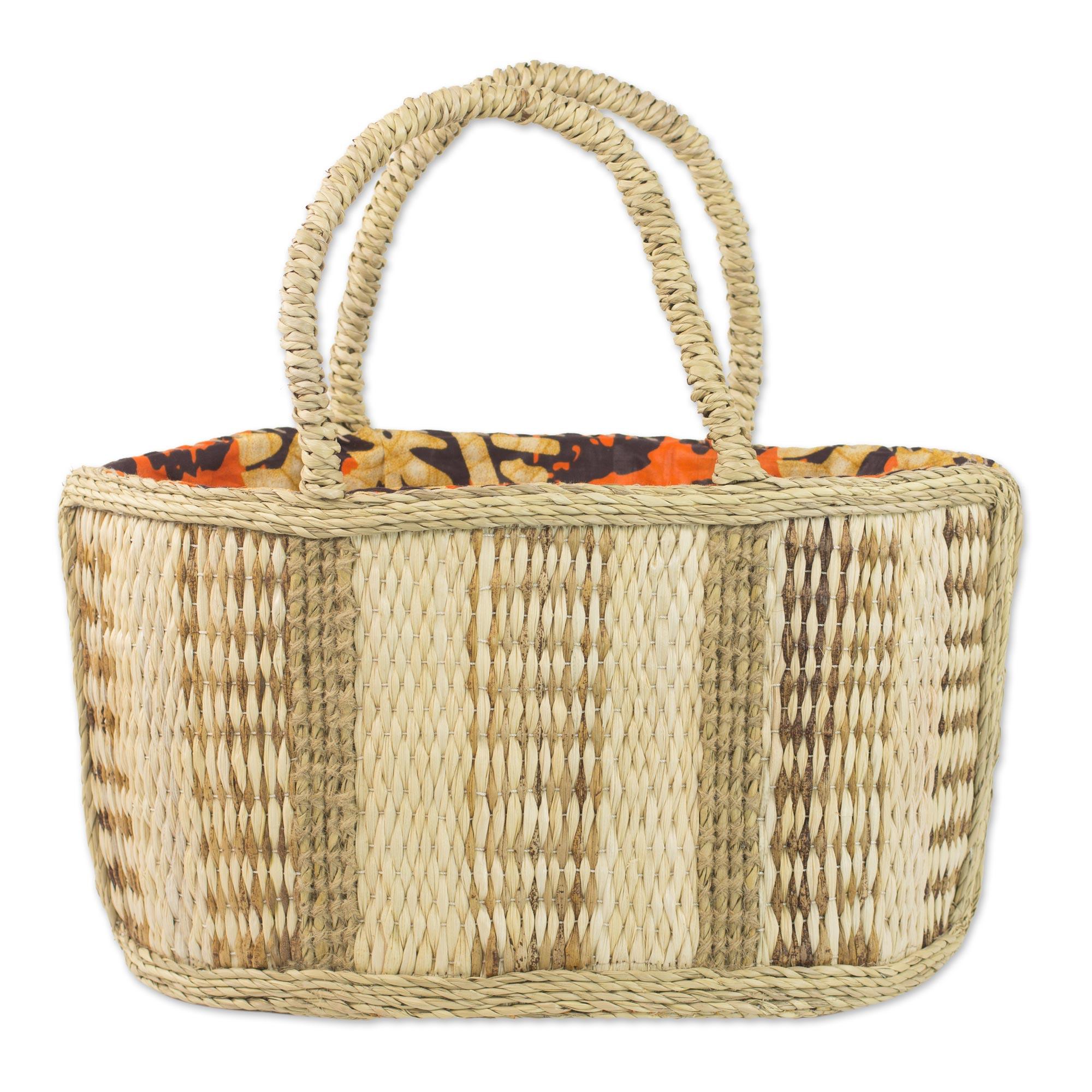 Novica Natural fiber tote handbag, Savvy Shopper