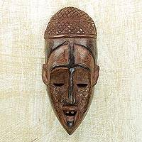 African wood mask, 'Goro Festival' - Handcrafted African Wood Goro Mask from Ghana