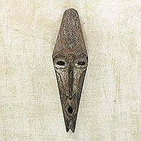 African wood mask, 'Agya' - Artisan Hand Carved Agya Father Sese Wood Mask from Ghana