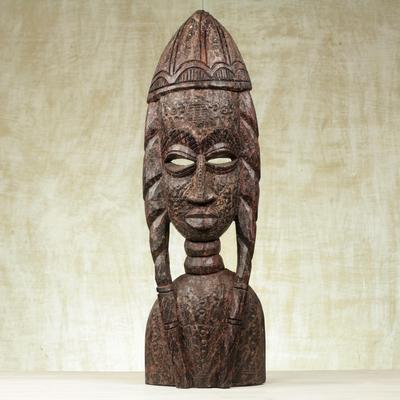 Original Piece Handmade In Ghana Dedicated Mahogany Sculpture Art Sculptures