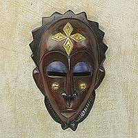 African wood mask, 'Gleaming Forehead'