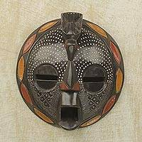 African wood mask, 'Bird Wisdom'
