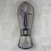 African wood mask, 'Songye Woman'