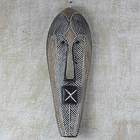 African wood mask, 'Songye Man'